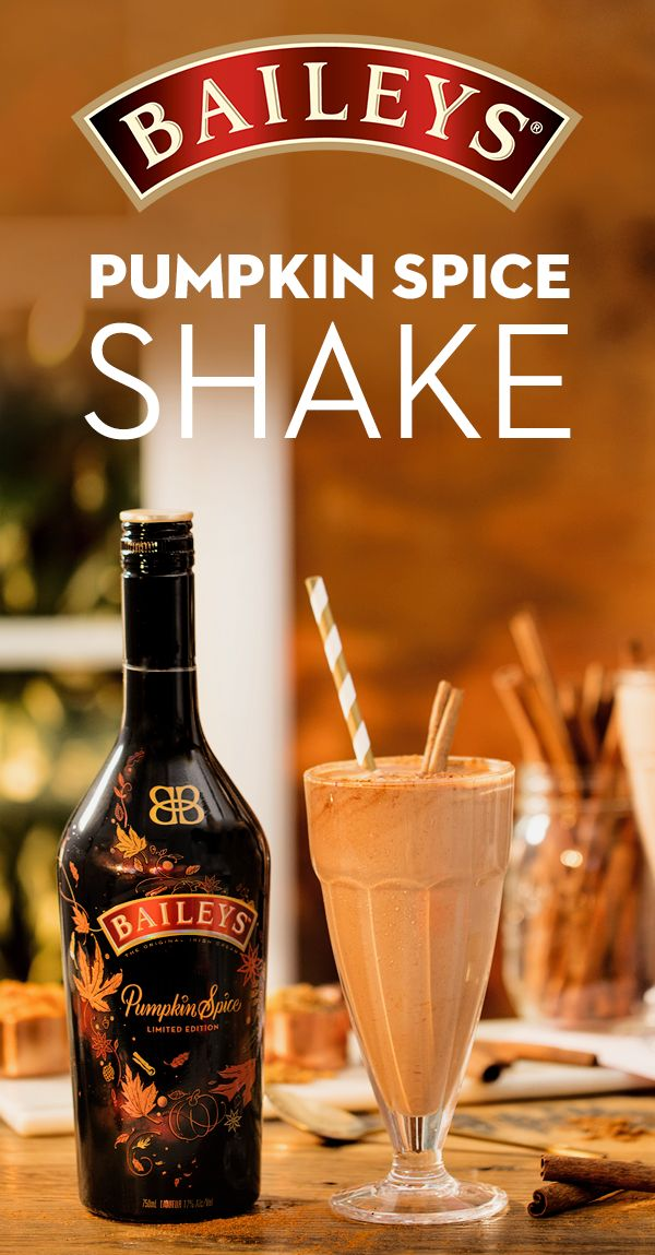 Who says you can't shake things up in the fall? Satisfy your pumpkin spice cravings with a bottle of Baileys and this delicious milkshake recipe. To make, blend 4 oz. Baileys Pumpkin Spice Irish Cream, 2 cups Chocolate Ice Cream, 2 oz. Whole Milk, 1/4 cup Brown Sugar, 1/4 cup Pumpkin Puree, and 1/4 tsp. of Pumpkin Spice Blend. Enjoy the most indulgent flavors the season has to offer!