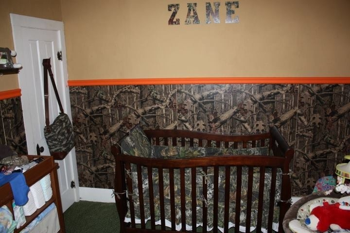 Lots of camo boy or girl it 39 s getting camo room all for Camo bedroom designs