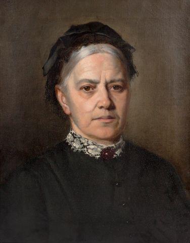 Brožík Václav (1851–1901)   Portrét Marie Riegrové-Palacké, kolem r. 1890   Aukce obrazů, starožitností   Aukční dům Sýpka