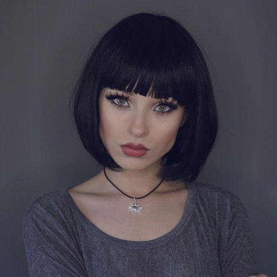 Короткие волосы с прямой челкой - модные стрижки ♡ ♡ Будь в курсе модных тенденций! ♡ Читай ЯвМоде