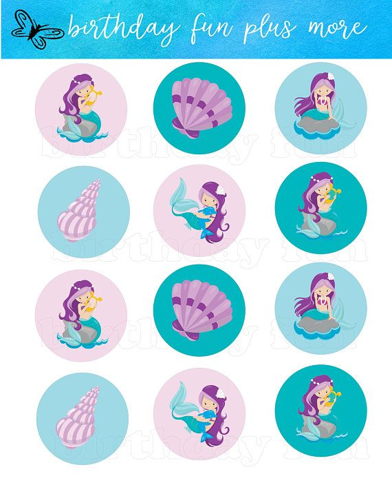 Personalized Starfish Party Stickers Starfish Birthday Decor, Printable Party Circles, Printable Starfish Decorations, Ocean Party