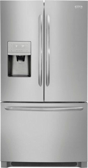 Frigidaire - Gallery 27.2 Cu. Ft. French Door Refrigerator - Stainless steel - Front_Zoom