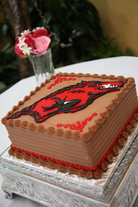 Razorback grooms cake; University of Arkansas