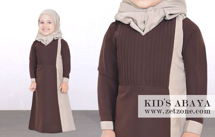 Fashionable Kids Abaya by zetzone.com | Size Available 1 Year To 12 Years | Worldwide Shipping Available | Shop Now » https://www.zetzone.com/kids/islamic-kids-wear/Kids-Abaya/Poly-Brown-Kids-Abaya