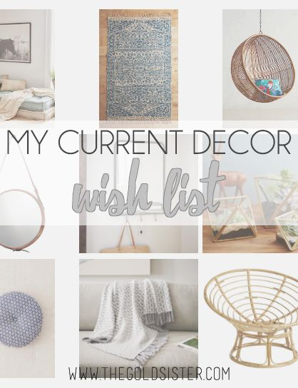 I decided to share my current decor wish list up on the blog! Super into boho chic lately~ http://thegoldsister.com/current-decor-wish-list/