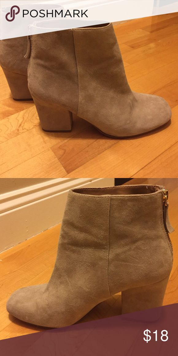 Nine West ankle boots Suede Nude ankle boots with zip in the back Nine West Shoes Ankle Boots & Booties