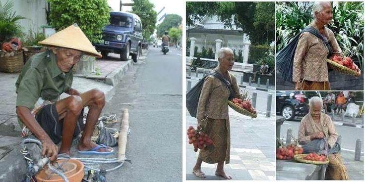 SUBHANALLAH.. Belajarlah Bersyukur Dari Kakek Dan Nenek Yang Pantang Menyerah Ini  Semoga Allah melimpahkan rezeki atas keduanya dan juga orang-orang yang pantang menyerah seperti mereka... Aamiin