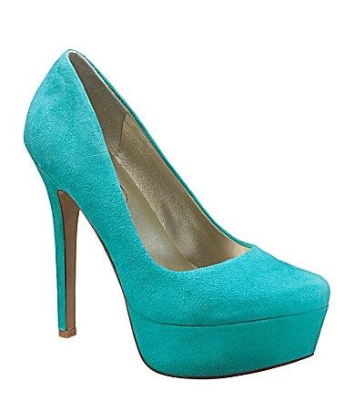 Jessica Simpson Waleo Pumps. Turquoise!