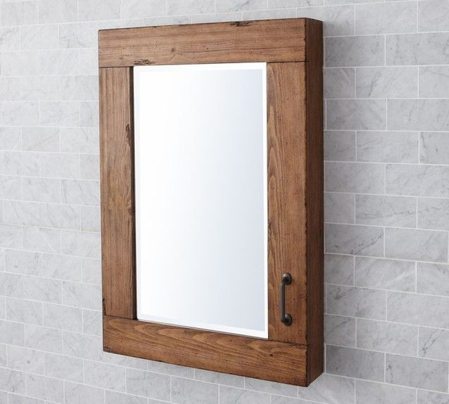 Wood medicine cabinets with mirrors for bathroom