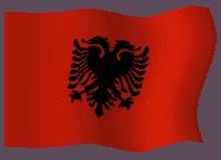 Banderas animadas de Albania en formato de gifs animados para poner en tu página web, son imágenes gratuitas animadas para diseño web. Bandera animada de Albania y dibujo del emblema nacional del país como enseña nacional. Ilustraciones del simbolo del país para los estudiantes, profesores y para hacer trabajos para la escuela, el instituto y todo lo que sea educación. Imágenes para descargar y utilizar en la web gratis.
