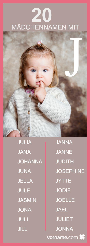 Deine Tochter soll einen Vornamen mit dem Anfangsbuchstaben J erhalten? Klick Dich durch unser Verzeichnis der weiblichen Vornamen und finde den passenden Namen für Dein Baby!