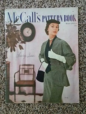 Vintage 50s McCall's Winter 1952-53 Pattern Catalog Book Sewing Issue #9132 MINT