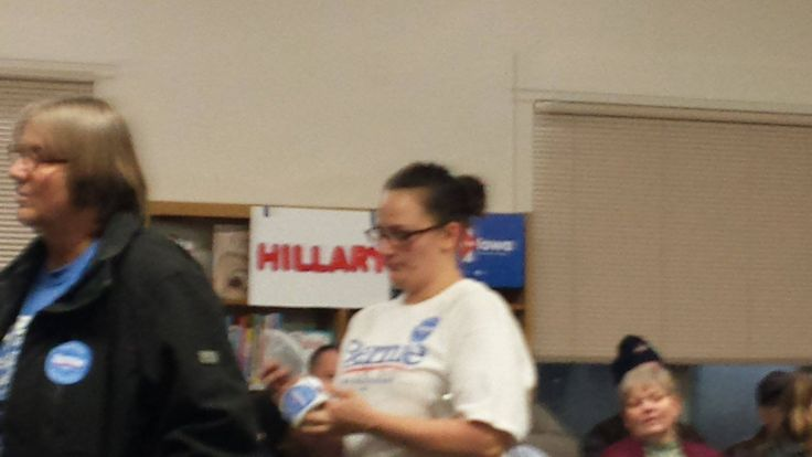 Nut job Bot I argued with at the Iowa Caucus in Clinton, Ia .. She tried to commit voter fraud telling everyone new that they did not need a form of ID to register. Bully in the first degree.