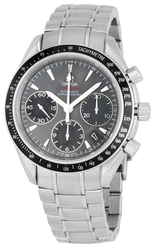 Men watches : Omega Men's 323.30.40.40.06.001 Grey Dial Speedmaster Watch