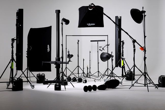 photography equipment | The range of Profoto lighting equipment that is available for hire.