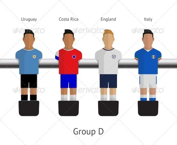 Table Football Soccer Players Group D