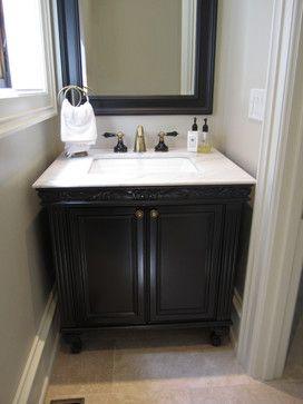 Beautiful Bathroom Projects - traditional - powder room - toronto - Signature Custom Cabinets https://www.facebook.com/SignatureCustomCabinets http://www.signaturecustomcabinets.com/