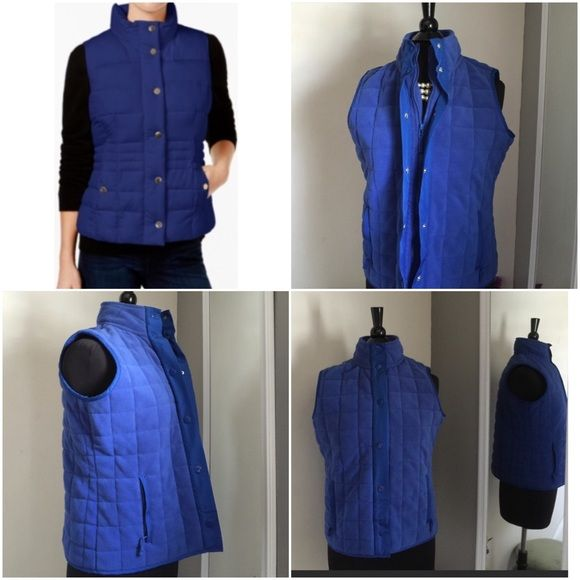 💙Electric Blue Zip Up & Snap Vest💙 Warm & Cozy💙 💙Electric Blue Zip Up & Snap Vest💙 Warm & Cozy💙 Zipper Pockets💙Charter Club Women's Petite Small - Fits Up to Size 6💙 100% Polyester 💙 Worn Once 💙Like New💙 Charter Club Jackets & Coats Vests