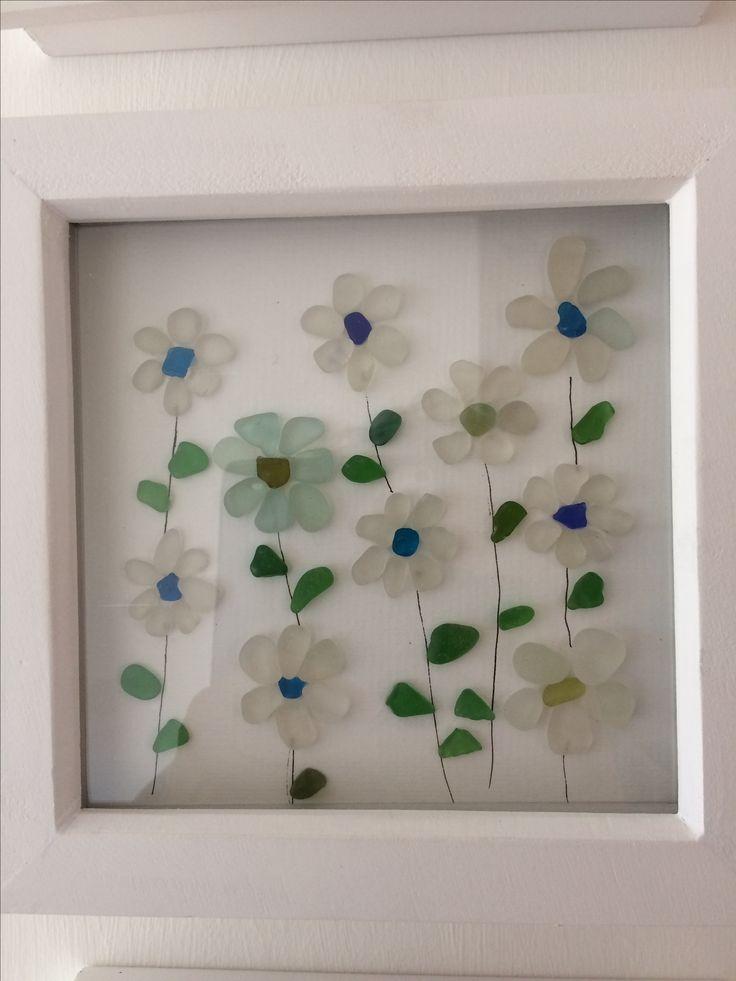 Pretty Flowers. North East Coast Sea Glass.