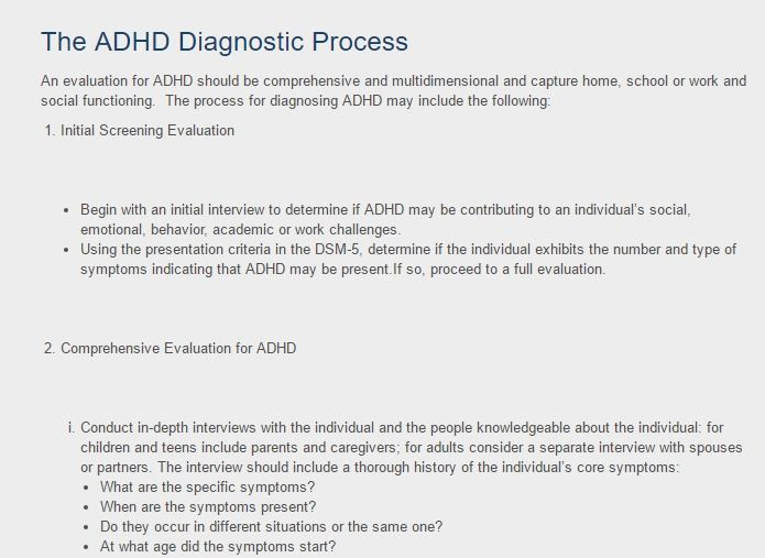 Adult adhd interview questions