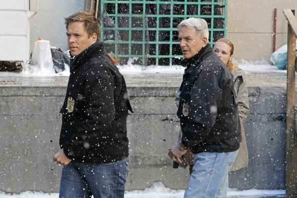 Gibbs mark harmon brave the snow on ncis photo sonja flemming cbs