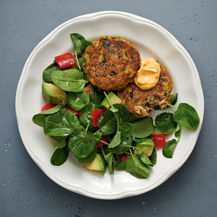 Thai Crab Cake Salad with Red Curry Mayo