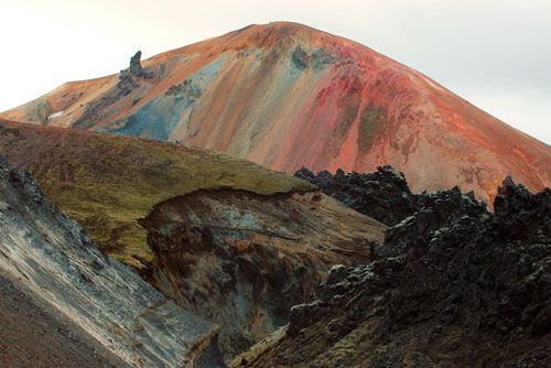 icelandic volcanos: Iceland Volcanoes, Color, Earth Tones, Marcel Musil, National Parks, Places, Landscape, Rainbows Mountain, Mothers Natural