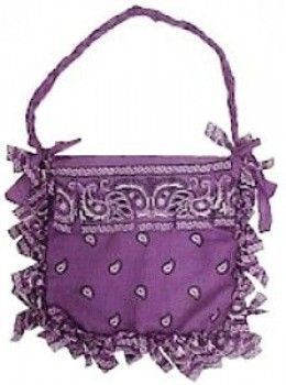 No-Sew Bandana Purse  -  This is no-sew but I would prefer to sew it for strength and durability! - leather handbags sale, leather purses, cute handbags for cheap *ad
