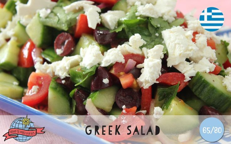 Greek Salad | Greece | Around the World in 80 Days | Moomookachoo
