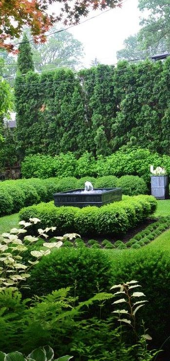 Formal garden and landscaping
