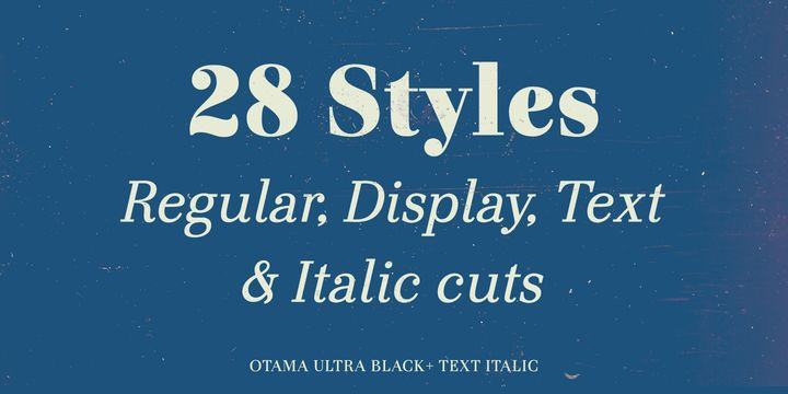 Otama - Professional with an edge #Typography $155.61 on sale