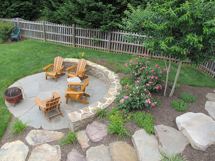 Outdoor Firepit Area Simple Clean Pretty Yard And Love