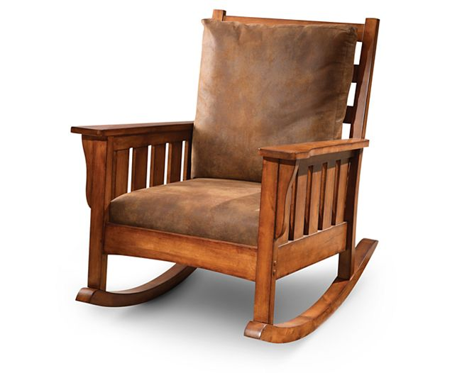 Accent Chairs-Craftsman Rocker-The classic rocking chair meets modern comfort here