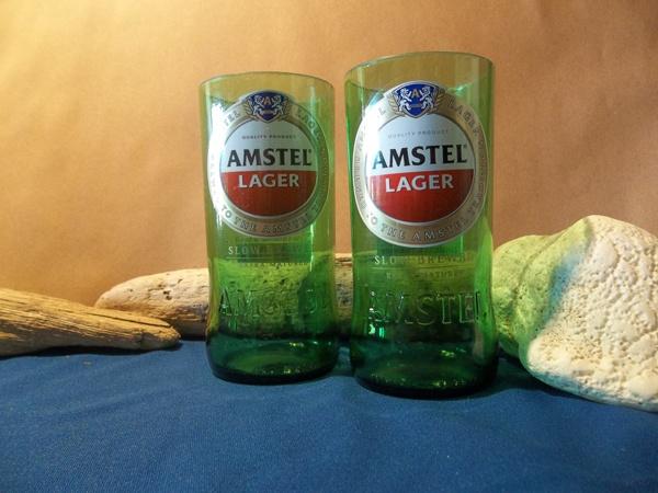 Amstel drinking glasses