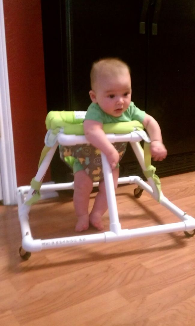 Baby Walker out of PVC Pipes. Cool!