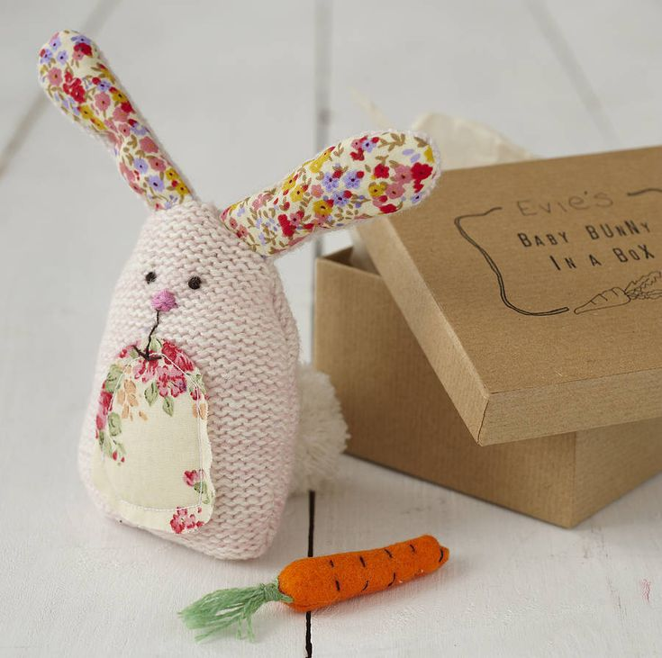 33 best easter images on pinterest easter gift baskets gift personalised bunny in a box such a sweet gift idea negle Gallery