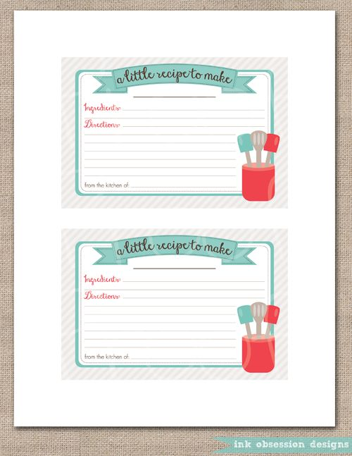 116 best Printable Recipe Card images on Pinterest Baking - recipe card