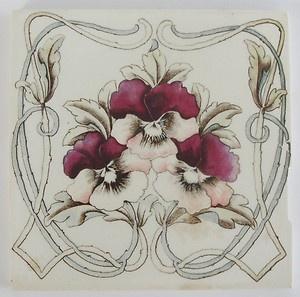 Art Nouveau Jugendstil Victorian Transfer ware Tile Fliese Antique vintage t   eBay