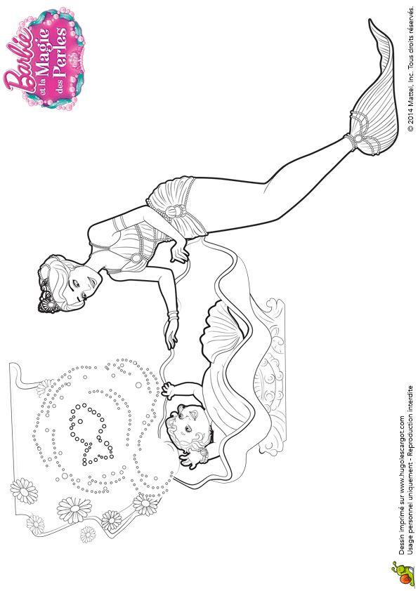 Les 340 meilleures images du tableau coloriages barbie sur - Coloriage magie ...