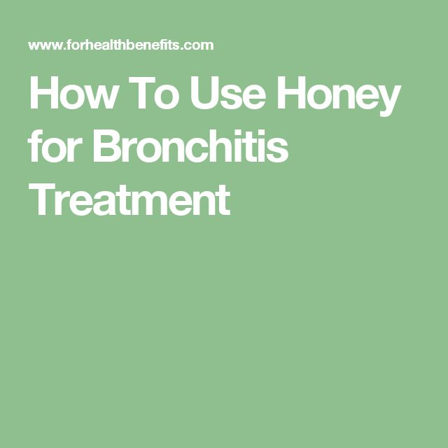 How To Use Honey for Bronchitis Treatment