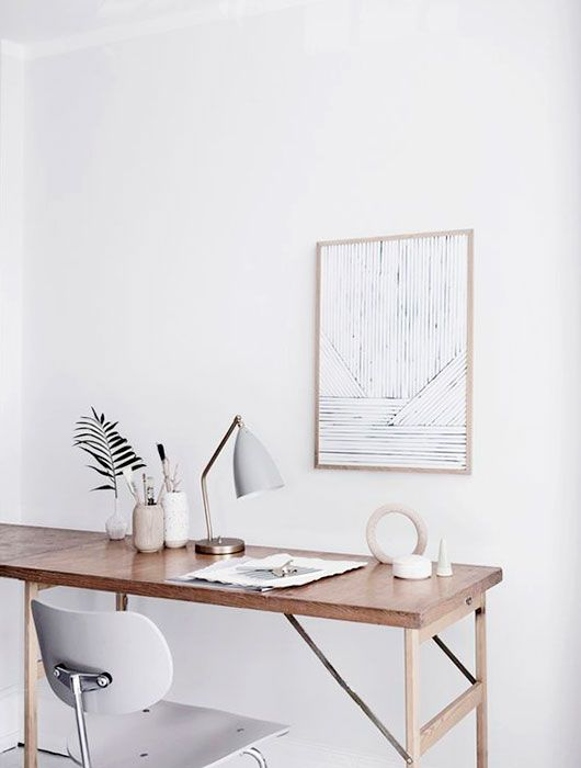 whitewashed working space. / sfgirlbybay