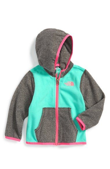 The North Face 'Glacier' Zip Hoodie (Baby Girls) available at #Nordstrom