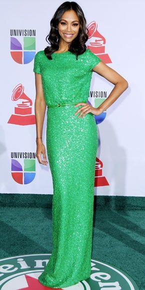 Zoe Saldana at the Latin Grammys.