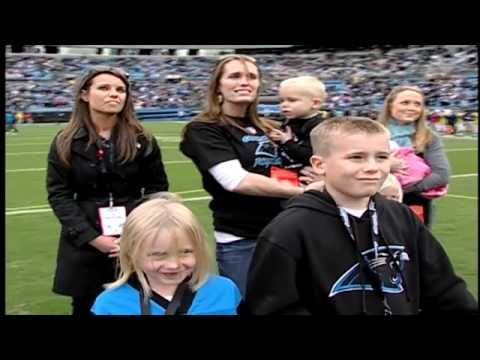 Soldier Surprises Family on field at Panthers Game During a Panthers game, the Jorgenson Family watch a clip of their dad, Joe Jorgenson sending out his gratitude for his family and all those supporting troops out in Iraq. Little did they know what surprise would be in store for them! Watch this suprised-filled video that will touch you and all the families patiently waiting for their loved ones to come home safely.