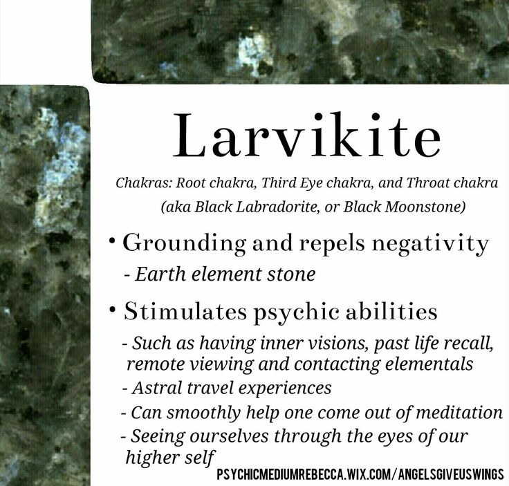 Larvikite crystal meaning
