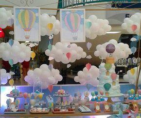 Ideas, decoración y manualidades para fiestas: Ideas para tu mesa de dulces con globos aerostáticos