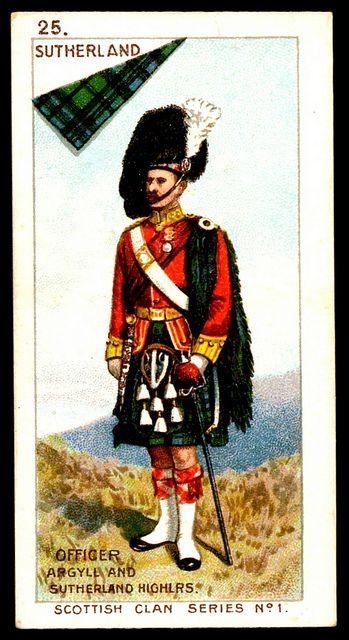 Mitchell's Cigarettes (Glasgow) - Scottish Clan Series - 1903. #25 Sutherland. ~ Argyll and Sutherland Highlanders