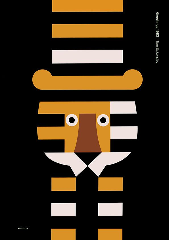 Tom Eckersley, tiger poster