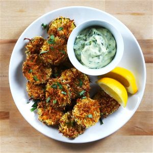 Lemon Parmesan Zucchini Chips with Basil Aioili - Check out this great recipe I found on Stellacheese.com!