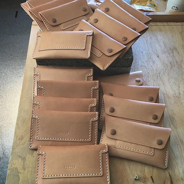 Fresh batch of Mechanics wallets ready! These things are super fun to make